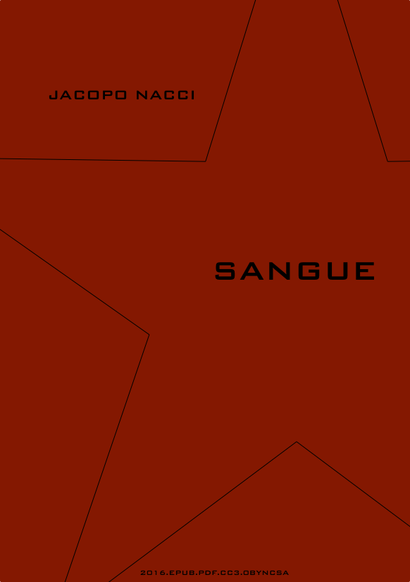 Sangue di Jacopo Nacci – copertina